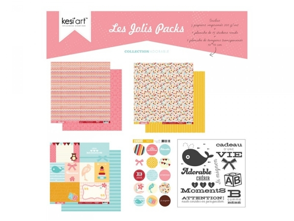 "Pack scrapbooking ""Joli pack"" - adorable"
