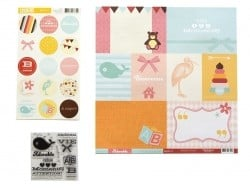 "Scrapbooking set - ""Joli pack"" - Adorable"