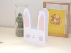 Carte anniversaire - lapin
