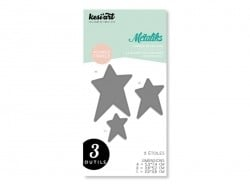 Métaliks Stanzschablone - 3 Sterne
