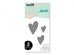 Forme de découpe Métaliks - 3 coeurs