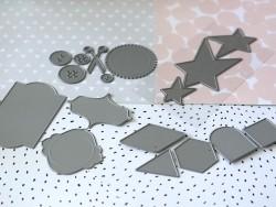 Métatliks die-cut shapes - 3 hearts