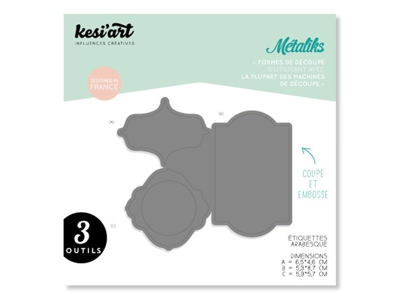 Forme de découpe Métaliks - étiquettes arabesque Kesi art - 1
