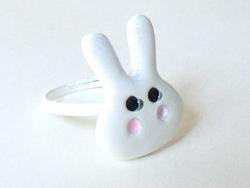 White rabbit ring