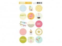 "Stickers ronds ""Celebration"""