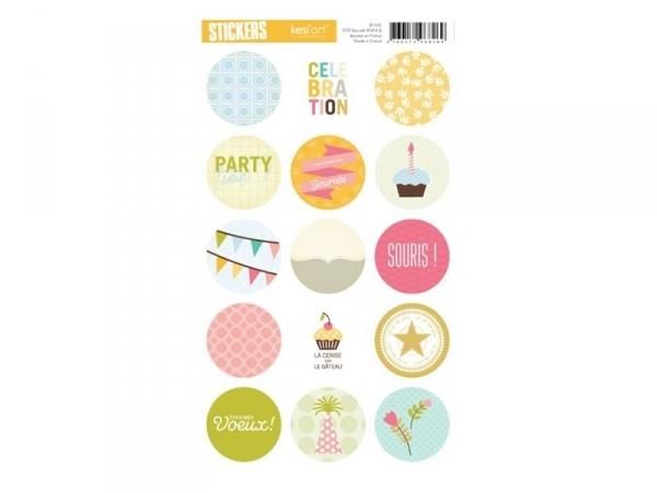 "Round stickers - ""Celebration"""