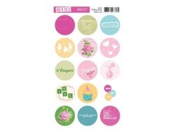 """Stickers ronds """"Coquette"""""""