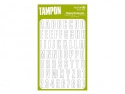 Tampons transparents - alphabet Timeo