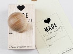 Tampons en bois - Made with love