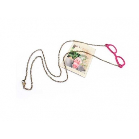 Acheter Sautoir lunettes de geek / Rose - 4,99€ en ligne sur La Petite Epicerie - 100% Loisirs créatifs