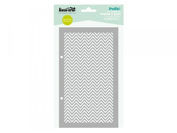 Stencil - Zigzag pattern