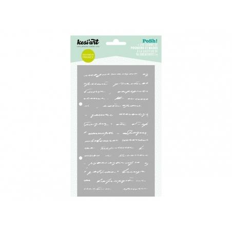 Stencil - Handwritten pattern