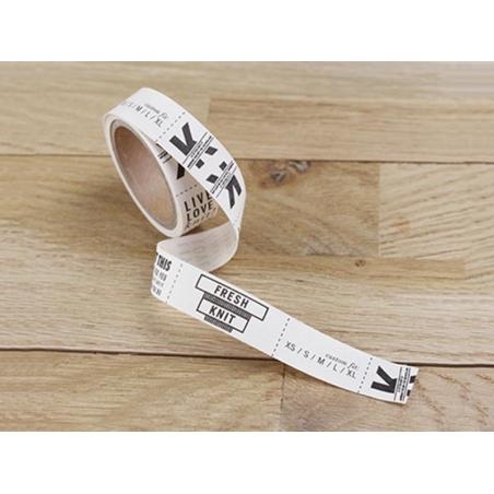 Rouleau d'étiquettes en tissus 1,5 cm
