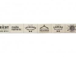 Rouleau d'étiquettes en tissus 2 cm