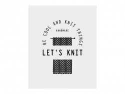 Temporary tattoo - Let's knit