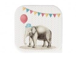 Boite carré hermétique / lunchbox - party éléphant Sass&Belle - 2