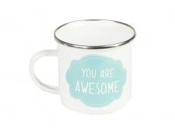 Emaillekaffeebecher / Emailletasse - You are awesome
