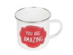 Mug / tasse en émail - You are amazing