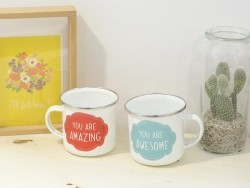 Mug / tasse en émail - You are amazing
