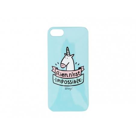 """Coque pour iphone 5/5S """"Rien n'est impossible"""" Mr Wonderful  - 1"""