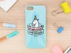 """Coque pour iphone 5/5S """"Rien n'est impossible"""" Mr Wonderful  - 4"""