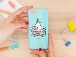 """Coque pour iphone 6/6S """"Rien n'est impossible"""""""