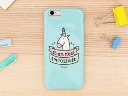 """iPhone 6/6S mobile case - """"Rien n'est impossible"""""""