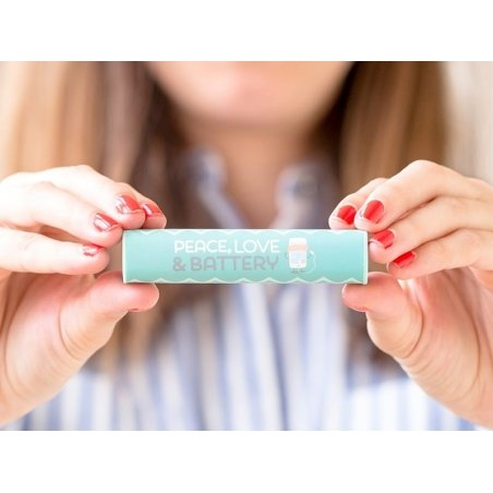"""Power Bank / Chargeur portable """"Peace, love& battery"""""""