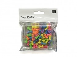 60 drawing pins - various colours