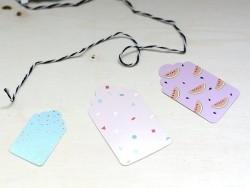 30 étiquettes cadeaux - tropical & confetti