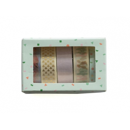 Set de 5 masking tapes - cactus / flamant rose Rico Design - 3