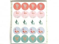 Round stickers - confetti