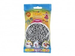 Bag of 1,000 HAMA MIDI beads - grey Hama - 1
