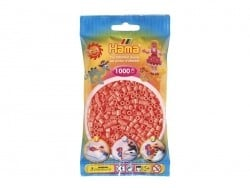 Bag of 1,000 HAMA MIDI beads - coral red Hama - 1