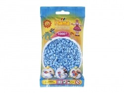 Bag of 1,000 HAMA MIDI beads - pastel blue Hama - 1
