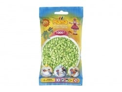 Bag of 1,000 HAMA MIDI beads - pastel green Hama - 1