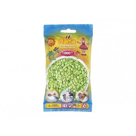 Bag of 1,000 HAMA MIDI beads - pastel green Hama - 1