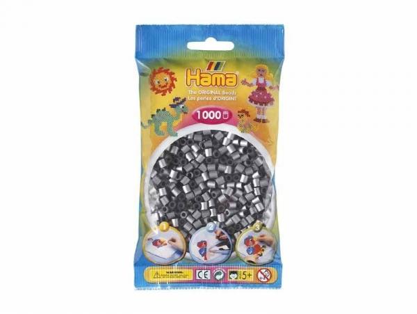 Bag of 1,000 HAMA MIDI beads - silver Hama - 1