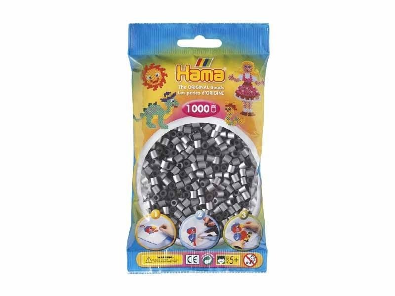 Sachet de 1000 perles Hama MIDI - argenté 62 Hama - 1