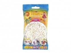 Bag of 1,000 HAMA MIDI beads - pearlised white Hama - 1