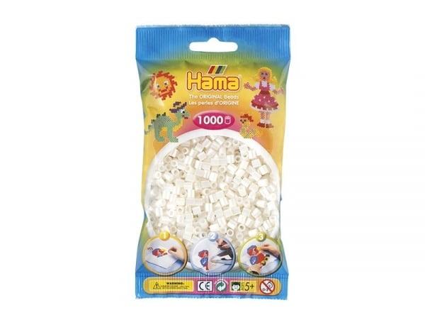 Bag of 1,000 HAMA MIDI beads - pearlised white Hama - 1