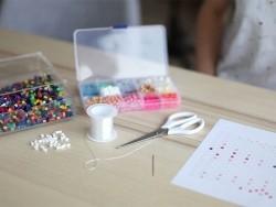 Bag of 1,000 HAMA MIDI beads - pearlised white Hama - 3