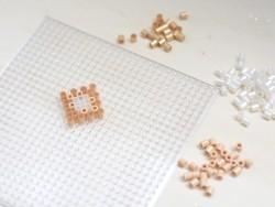 Bag of 1,000 HAMA MIDI beads - pearlised white Hama - 2
