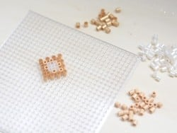 Sachet de 1000 perles Hama MIDI - blanc nacré