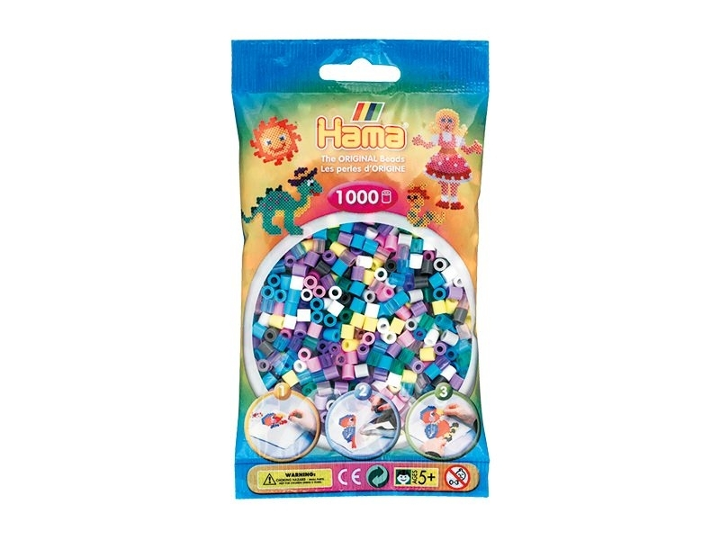 Sachet de 1000 perles Hama MIDI - multicolore bleu violet 69 Hama - 1