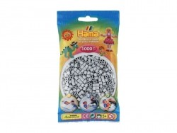 Bag of 1,000 HAMA MIDI beads - light grey Hama - 1