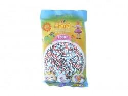 Sachet de 1000 perles Hama MIDI - bicolore blanc