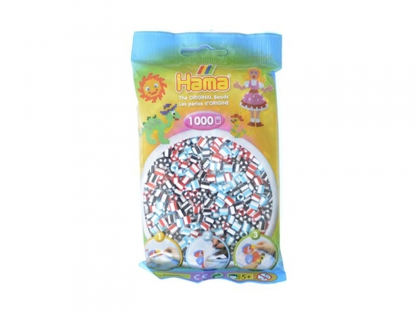 Sachet de 1000 perles Hama MIDI - bicolore blanc 91 Hama - 1