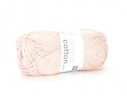 "Cotton knitting yarn - ""Creative Cotton Aran"" - pastel pink (colour no. 02)"