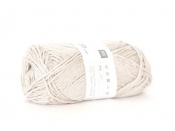 "Cotton knitting yarn - ""Creative Cotton Aran"" - silver-grey (colour no. 22)"